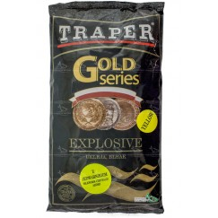 Прикормка TRAPER GOLD 1 кг Explosive (желтый, коричневый, красный)